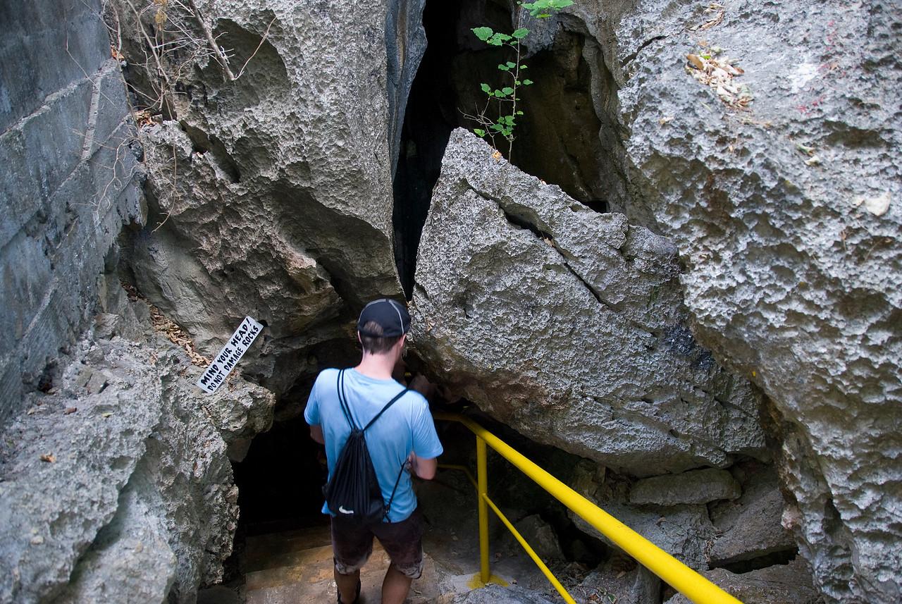 Cave entry in Yasawa Islands, Fiji