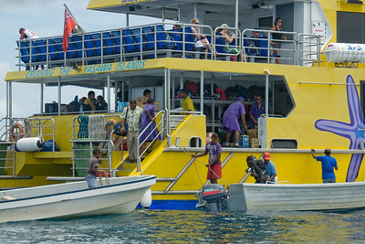 Ferry boat in Yasawa Islands, Fiji