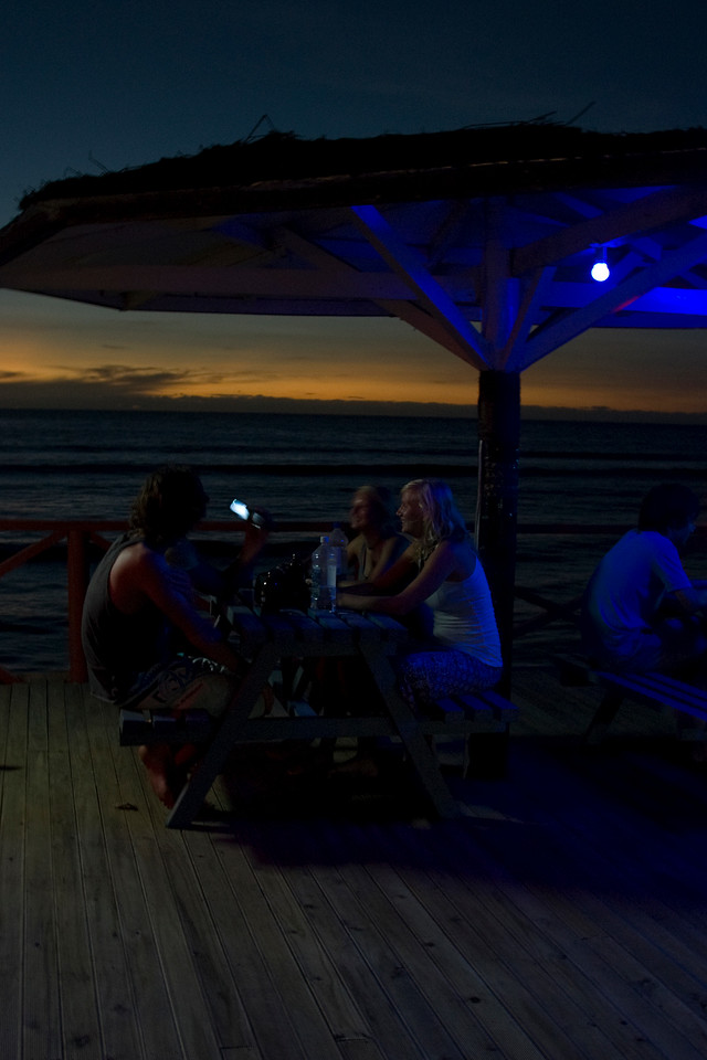Drinking at night in Yasawa Islands, Fiji