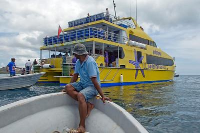 Ferry boat in Yawasa Islands, Fiji