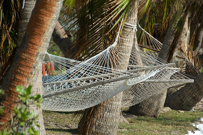 Hammocks on the beach in Yasawa Islands, Fiji