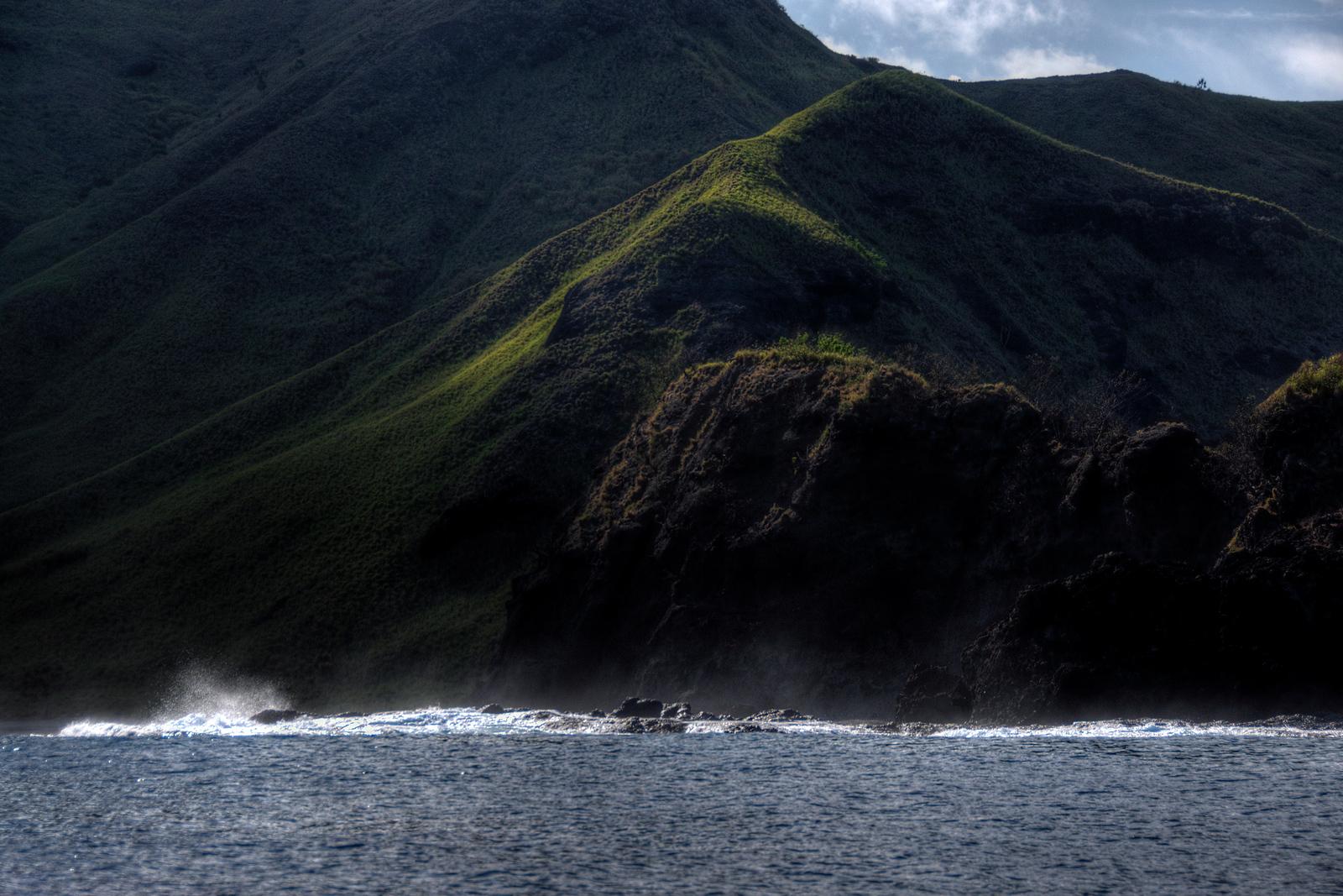 Mountain cliffs near sea - Yasawa Islands, Fiji