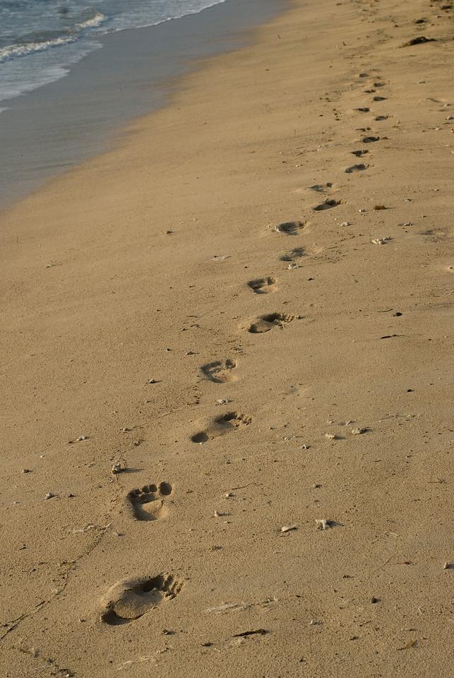 Footprints in the sand - Yasawa Islands, Fiji