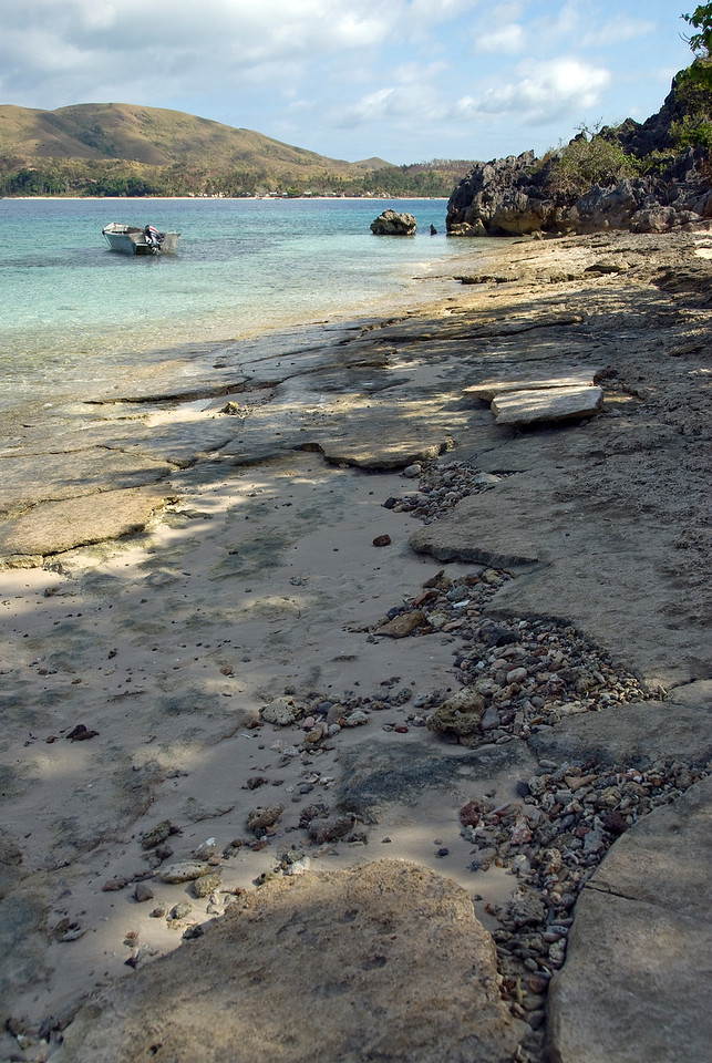 Rocky beach in Yasawa Islands, Fiji