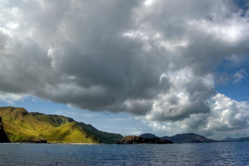 Mountain cliffs near the sea - Yasawa Island, Fiji