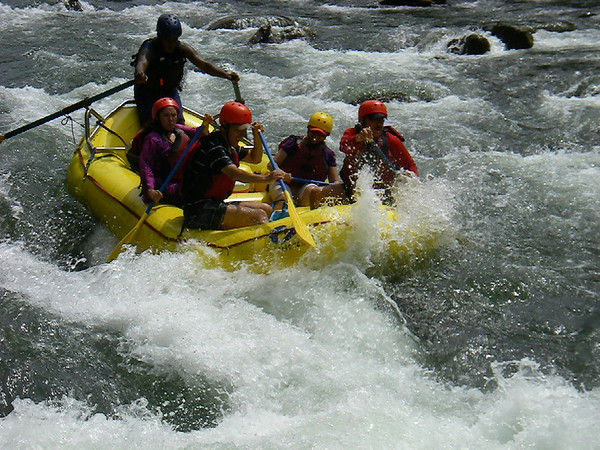 Maneuvering the rapids