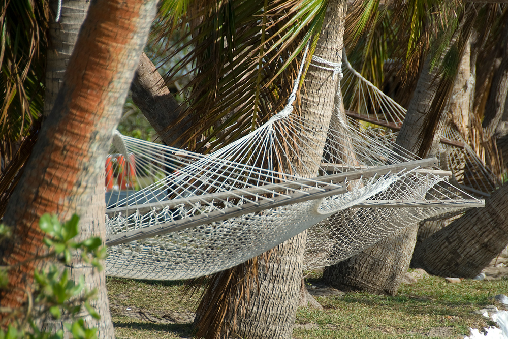 Hammocks in paradise, Tavewa Island, Fiji