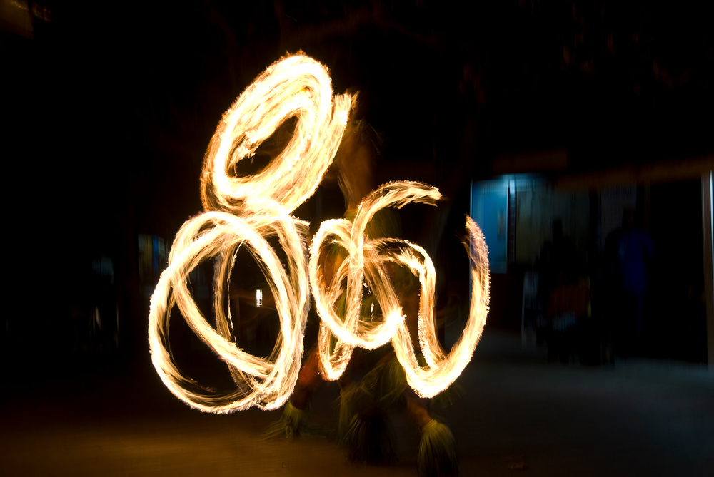 Fire dancers in Fiji