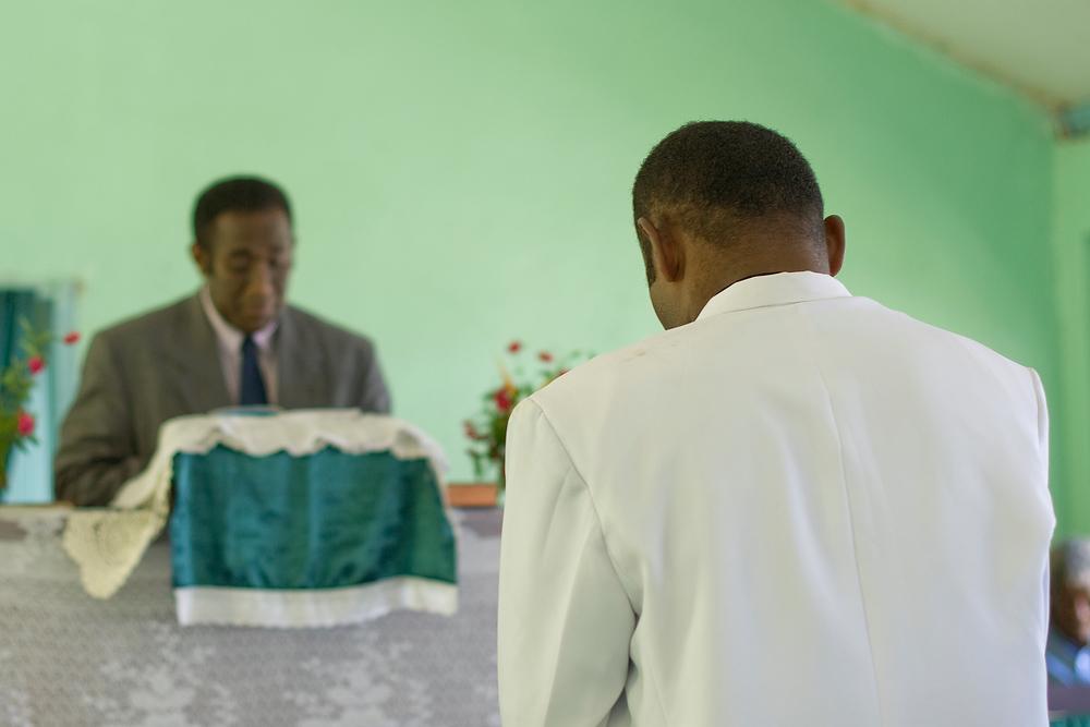 Man becoming a ministers in Fijian Church, Waya Island, Fiji