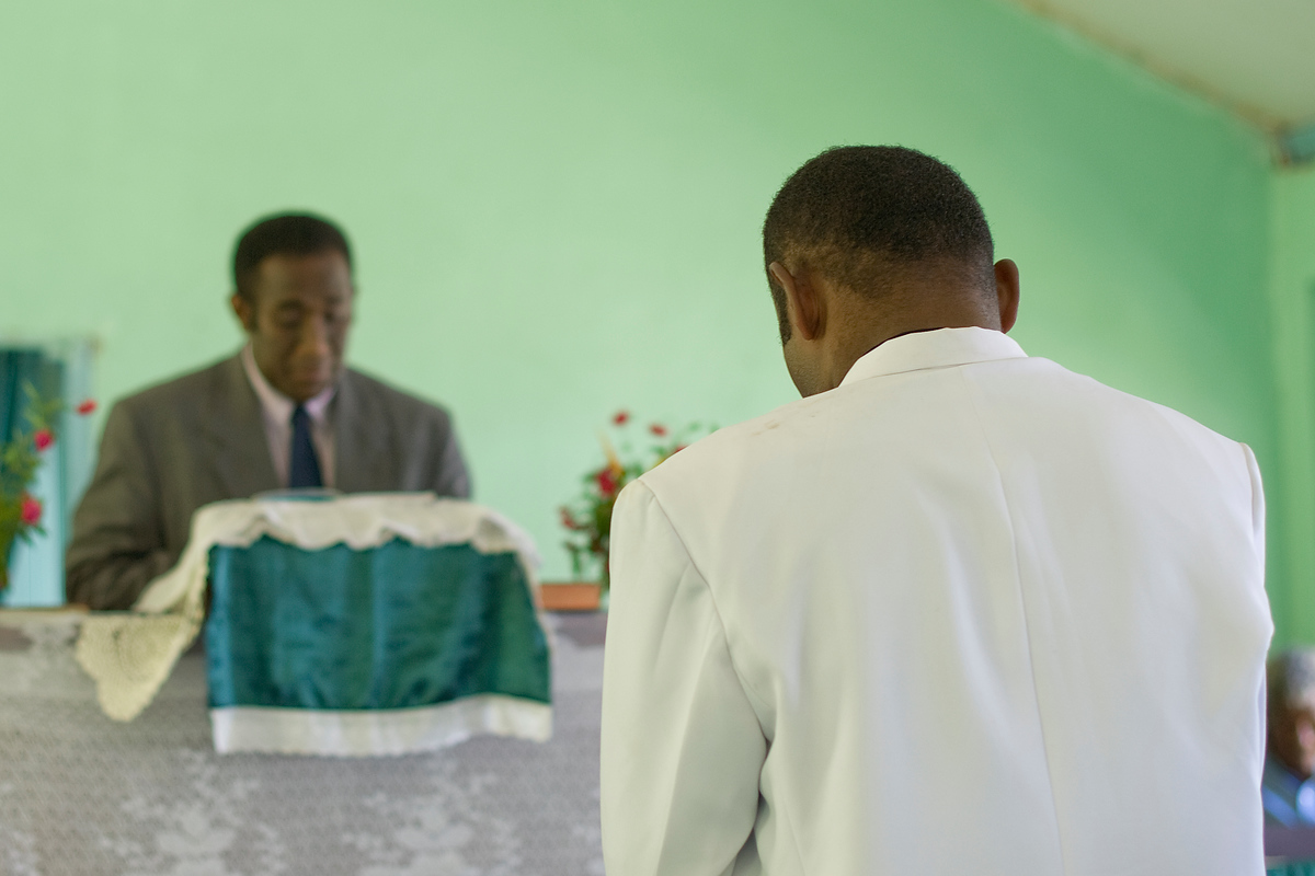 Man becoming a ministers in Fijian Church, Waya Island, Fiji