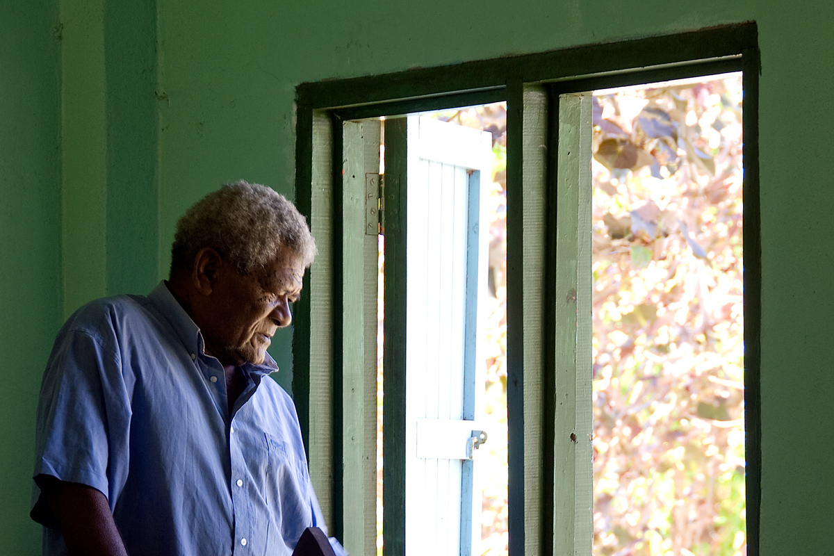Village Elder at Window, Waya Island, Fiji