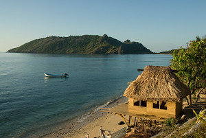 The beach at Waya Lailia Resort, Fiji