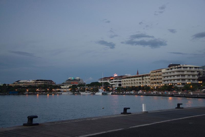 Papeete Harbor at Dusk