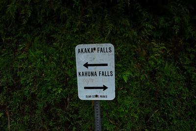 Sign at Akaka Falls State Park, Hawaii