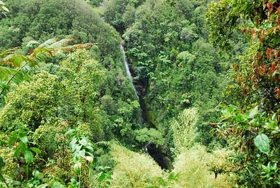 Aerial view of Akaka Falls in Hawaii