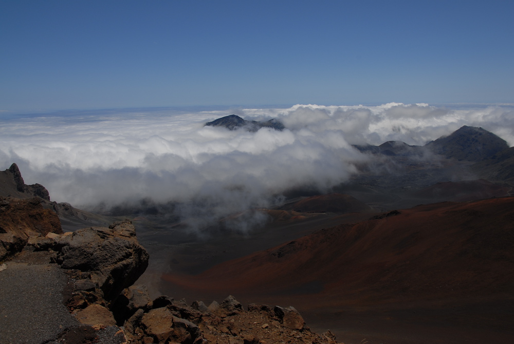 The summit area in Haleakala National Park on Maui island, Hawaii