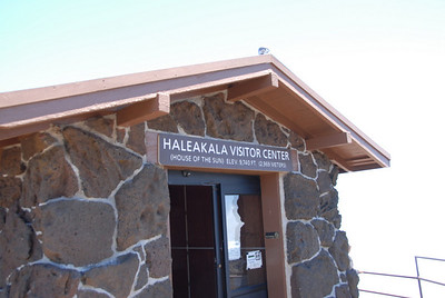 Haleakala National Park visitor center sign - Maui, Hawaii