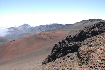 View of Haleakala National Park from visitor center - Hawaii