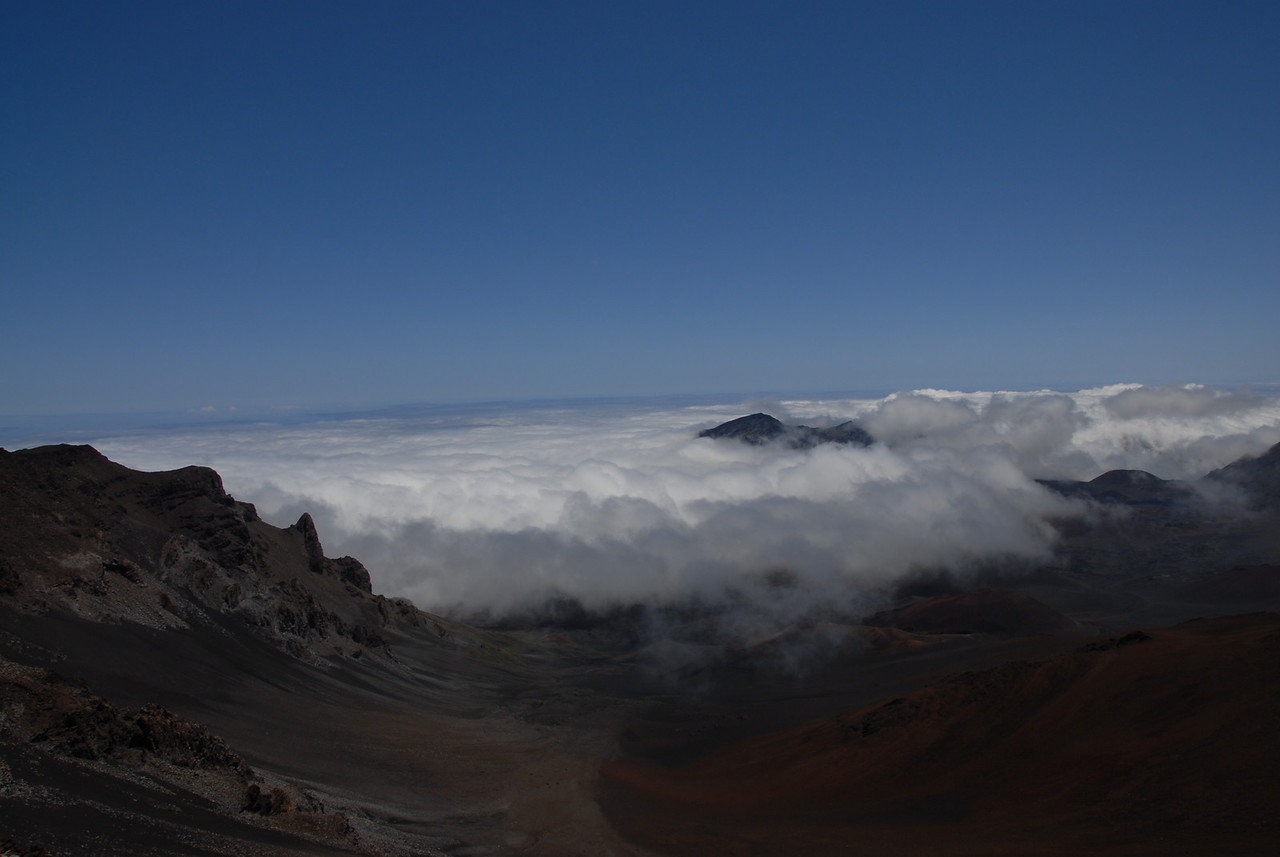 View from the Haleakala National Park visitor center in Hawaii