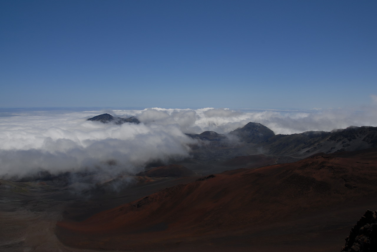 View from Haleakala National Park visitor center in Hawaii