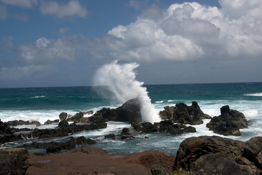 Wave on Hana Coast, Maui, Hawaii