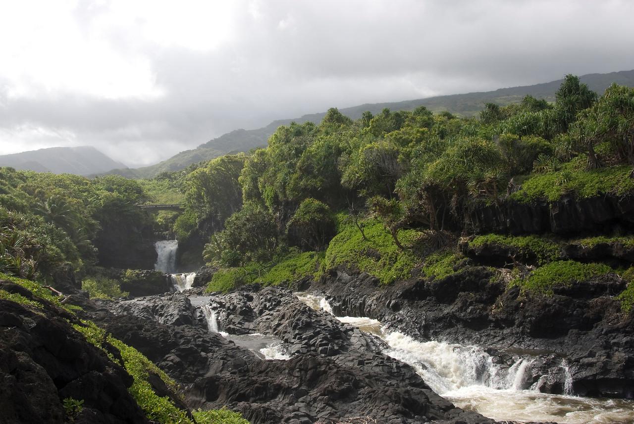 Two Pools Falls in Hana, Hawaii