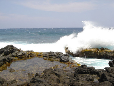 Strong waves in the island of Hawaii