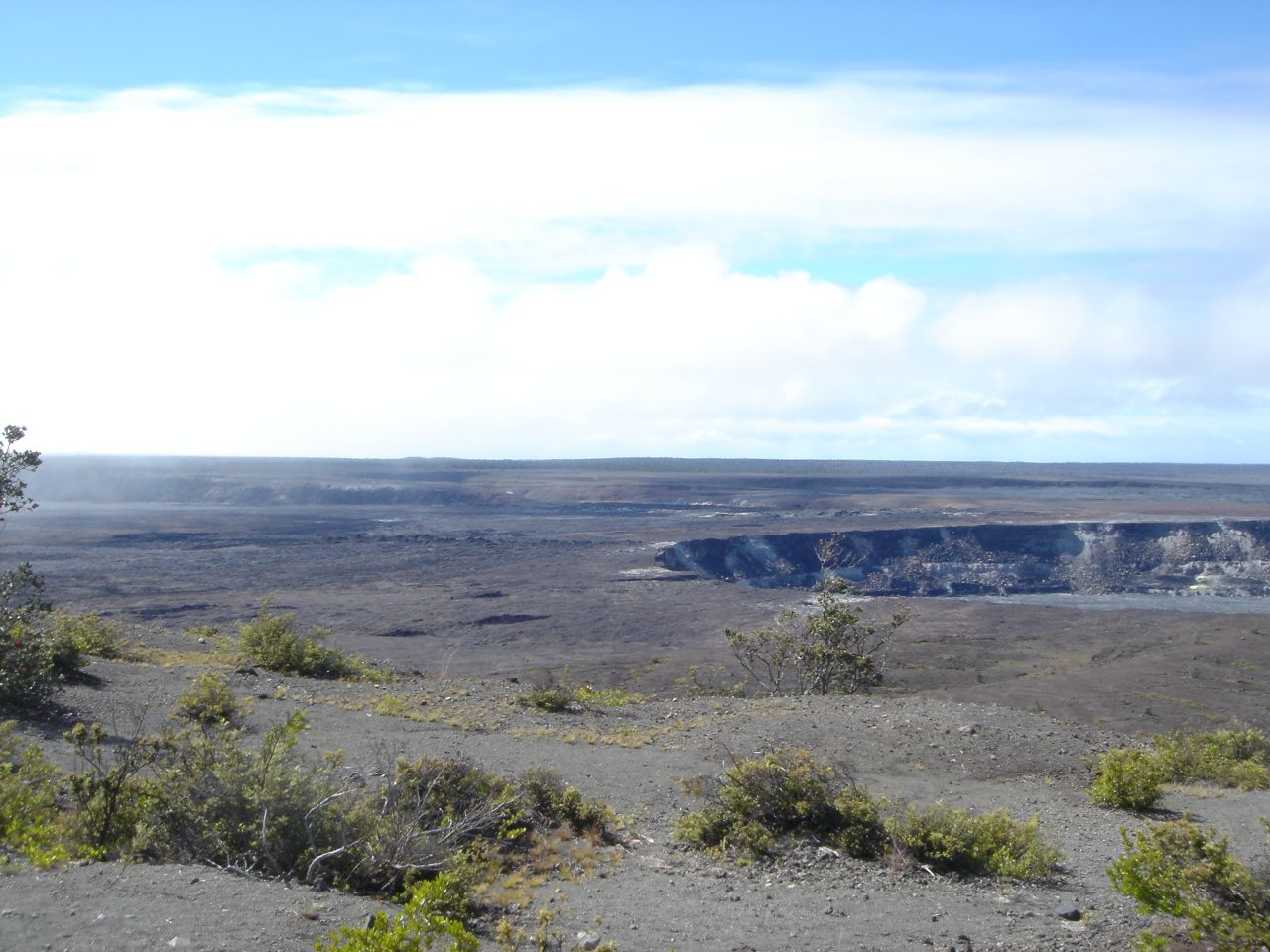 Kilauea caldera in Hawaii