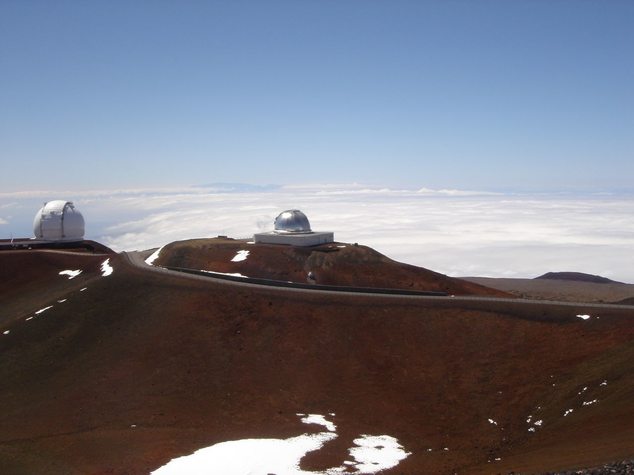 Keck telescopes in Hawaii