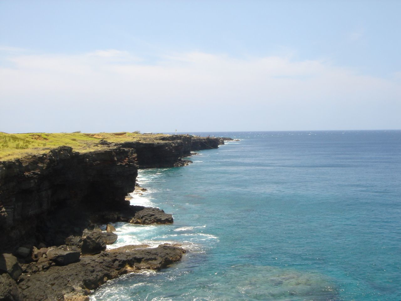 Coastal cliffs in Hawaii