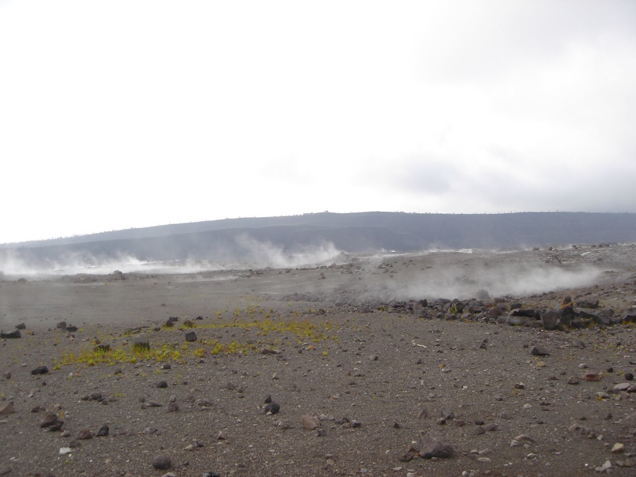 Landscape from lava flow - Hawaii