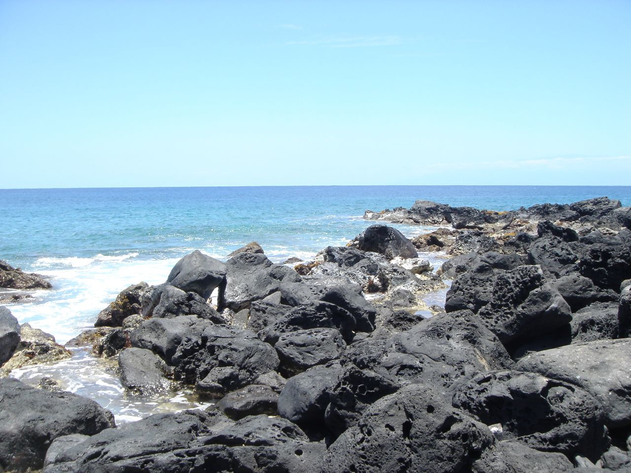 Rocky beach in Hawaii