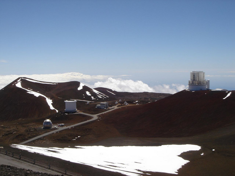 Keck telescope in Hawaii