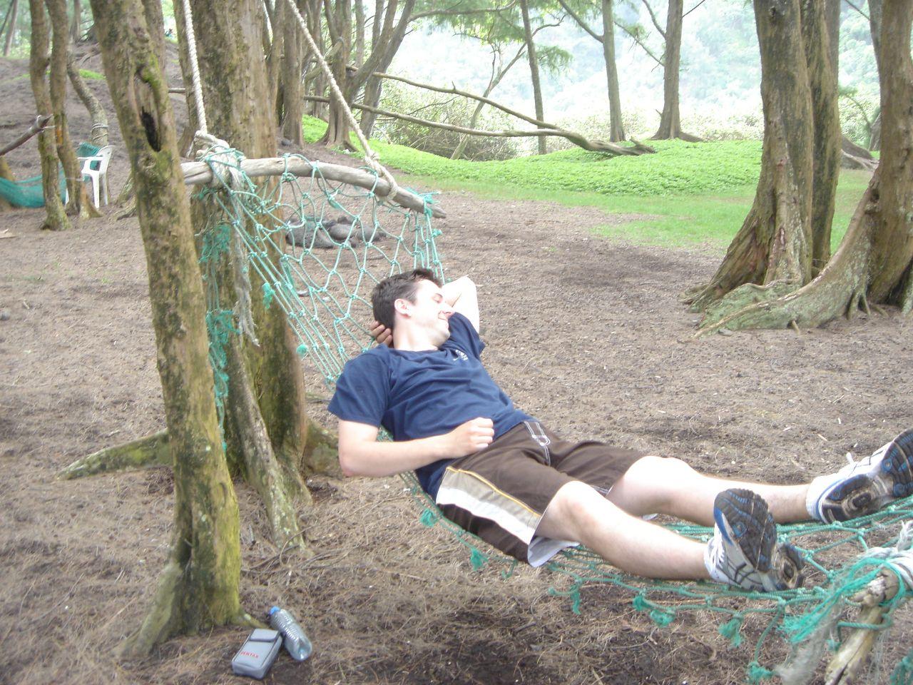 Relaxing in a hammock - Hawaii