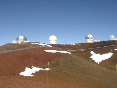 Keck telescopes in Hawaii