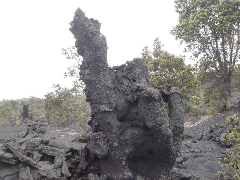 Formation from lava flow in Hawaii