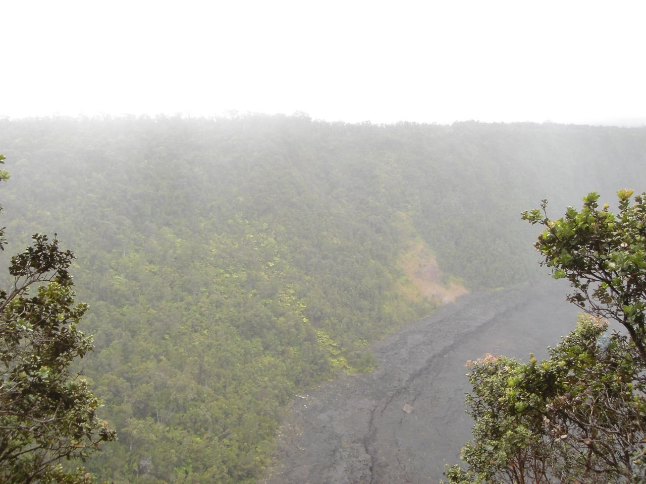 Fog over mountain in Hawaii