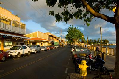 Front Street Seawall in Lahaina, Hawaii