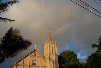 Maria Lanakila Catholic Church in Lahaina, Hawaii