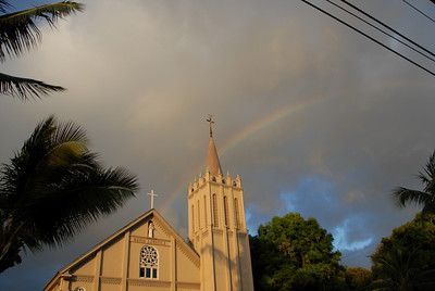Maria Lanakila Catholic Church in Lahaina, Hawaii