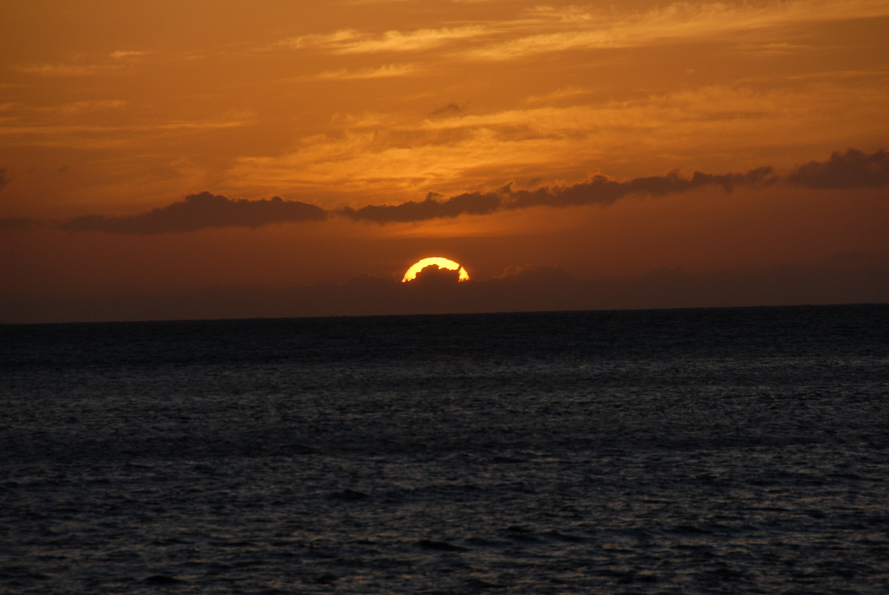 Sun setting in Lahaina, Hawaii