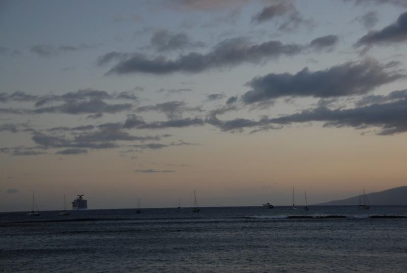 Sunset in Lahaina, Hawaii