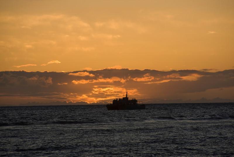 Boat at Sunset, Lahaina