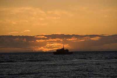 Boat at Sunset, Lahaina