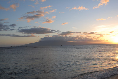 Sunset in Lahaina, Hawaii