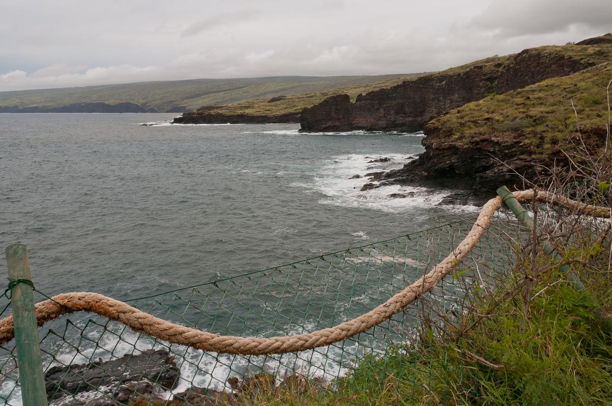 The sea cliffs on the island of Lana'i