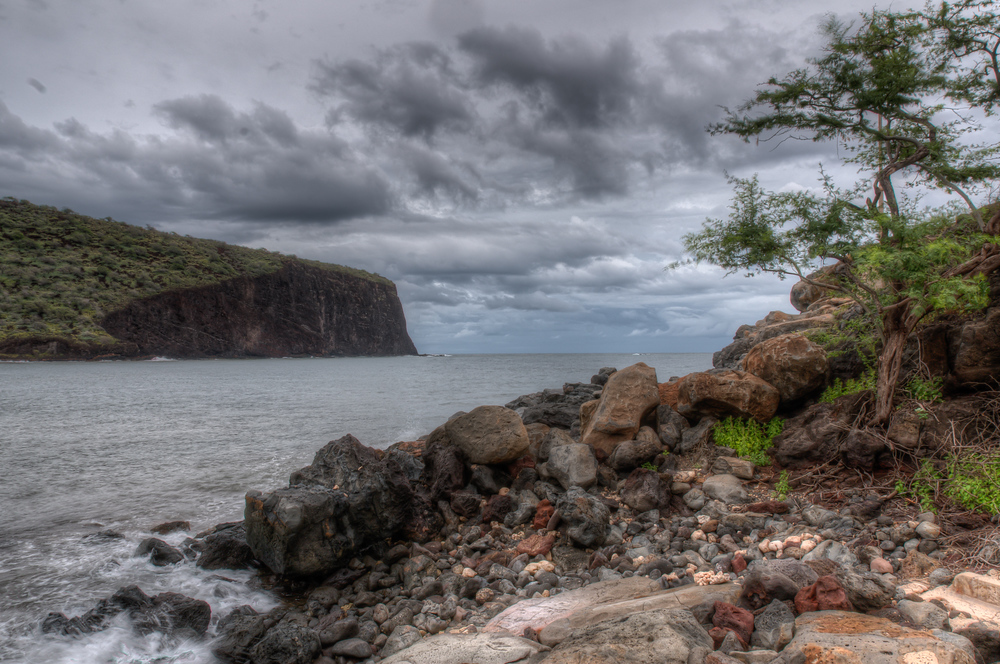 Sea Cliffs on the island of Lanai, Hawaii