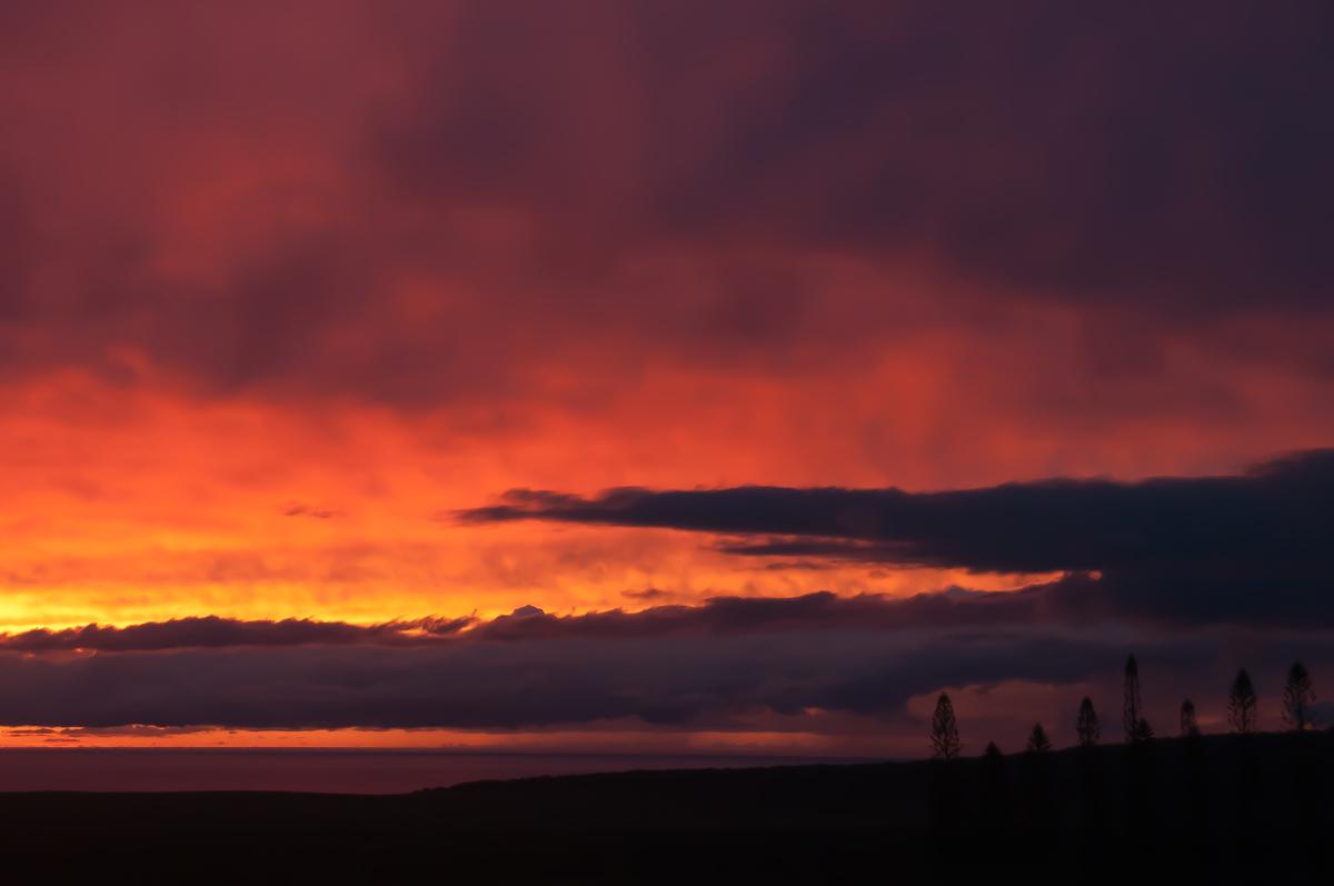 Sunset on the island of Lanai'i