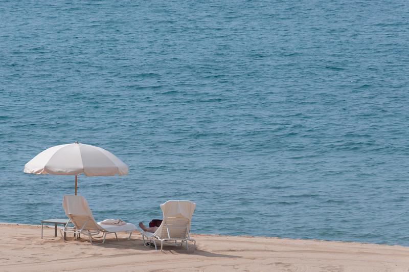 The beach line at the Four Seasons Resort in Lanai, Hawaii
