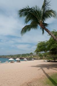 View of the beach in Lanai, Hawaii